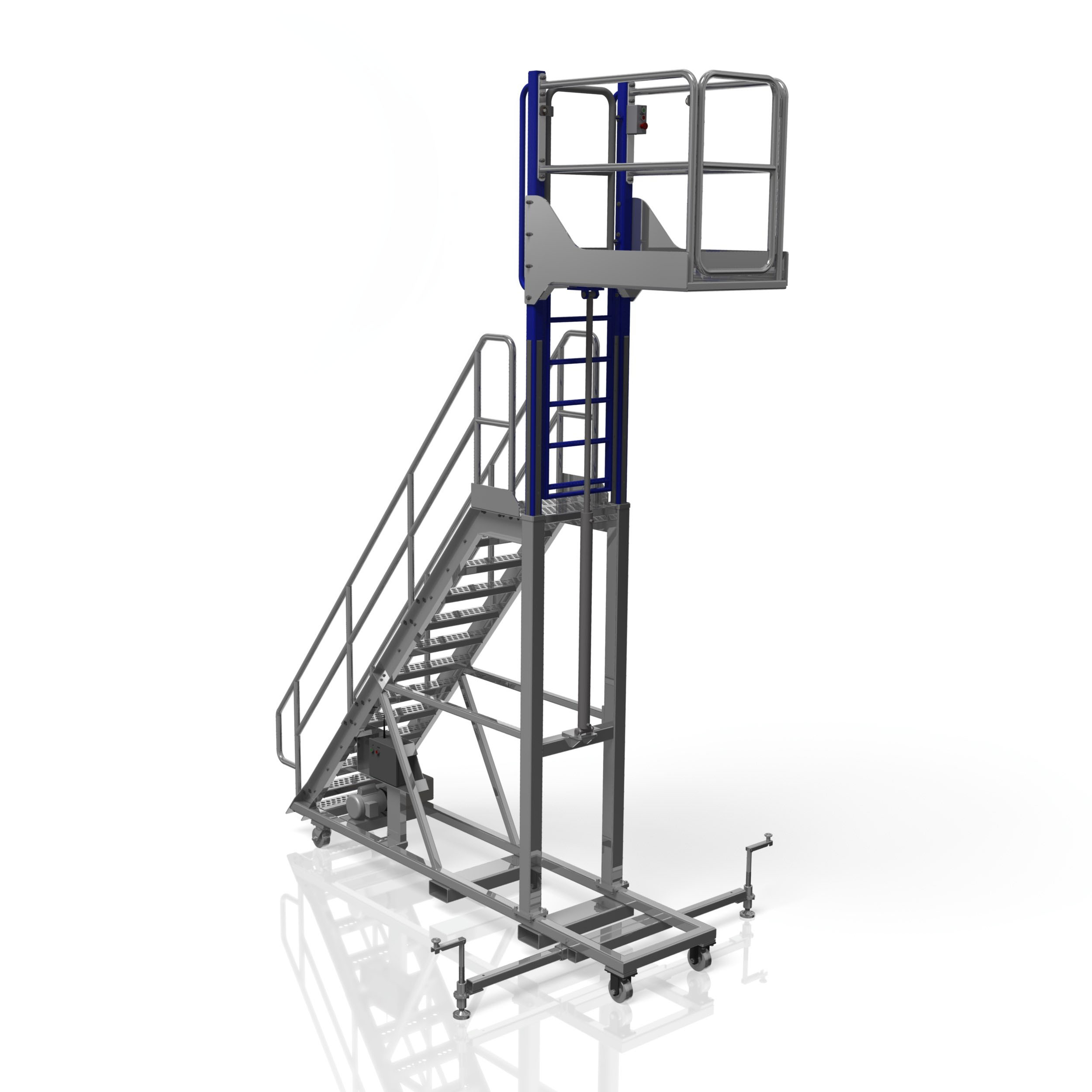 Aluminum Elevating Platform Stairs-B & D Manufacturing
